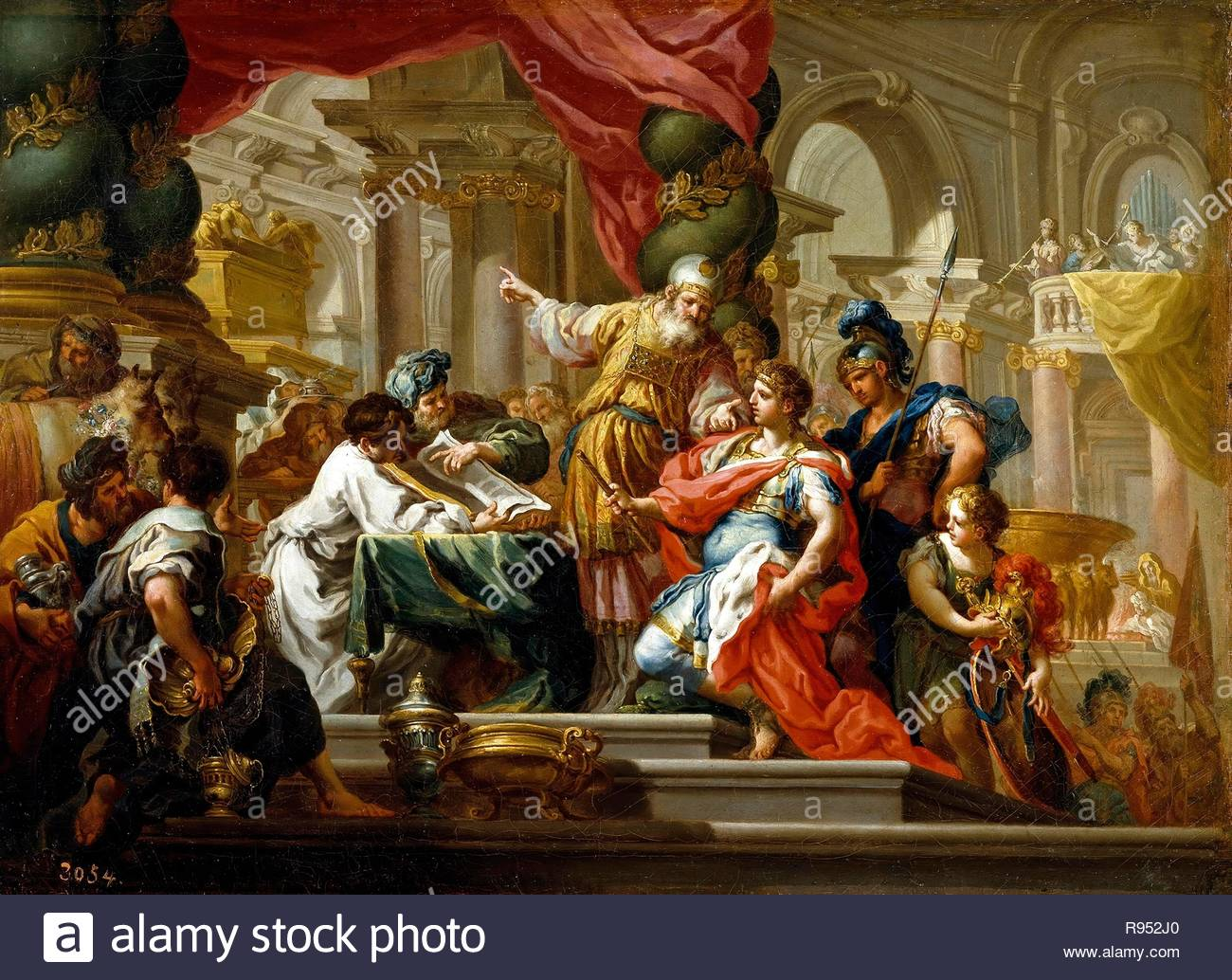 Sebastiano Conca / 'Alexander the Great in the Temple of Jerusalem