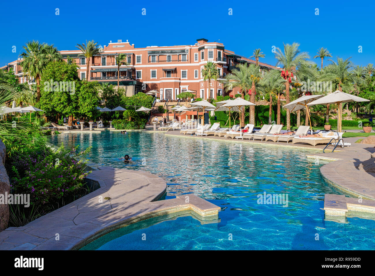Old Cataract Hotel Is A Historic British Colonial Era 5 Star Luxury Resort Hotel Located On The Banks Of The River Nile In Aswan Egypt Stock Photo Alamy
