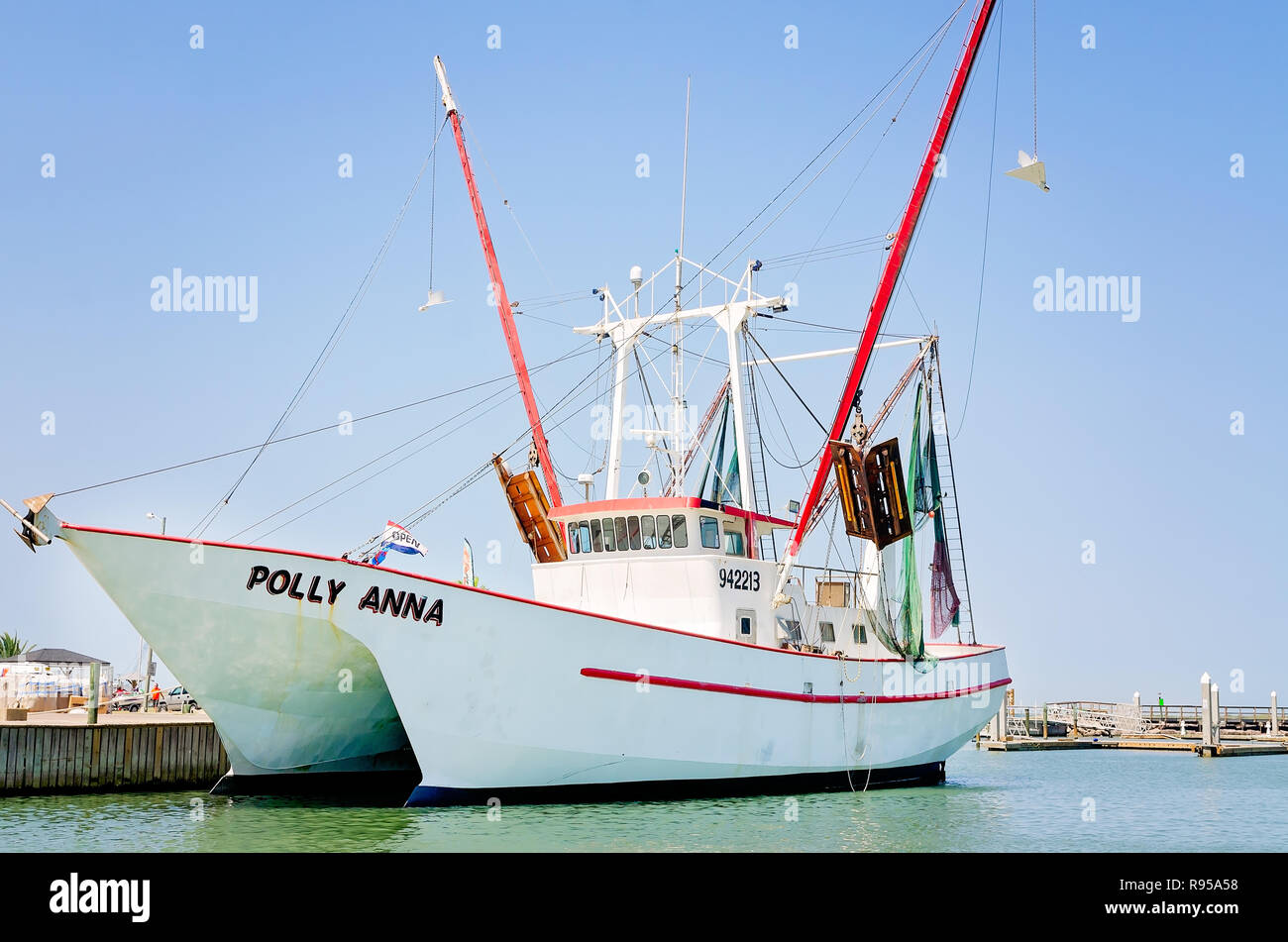 Tri Hull Shrimp Boat Stock Photos & Tri Hull Shrimp Boat Stock