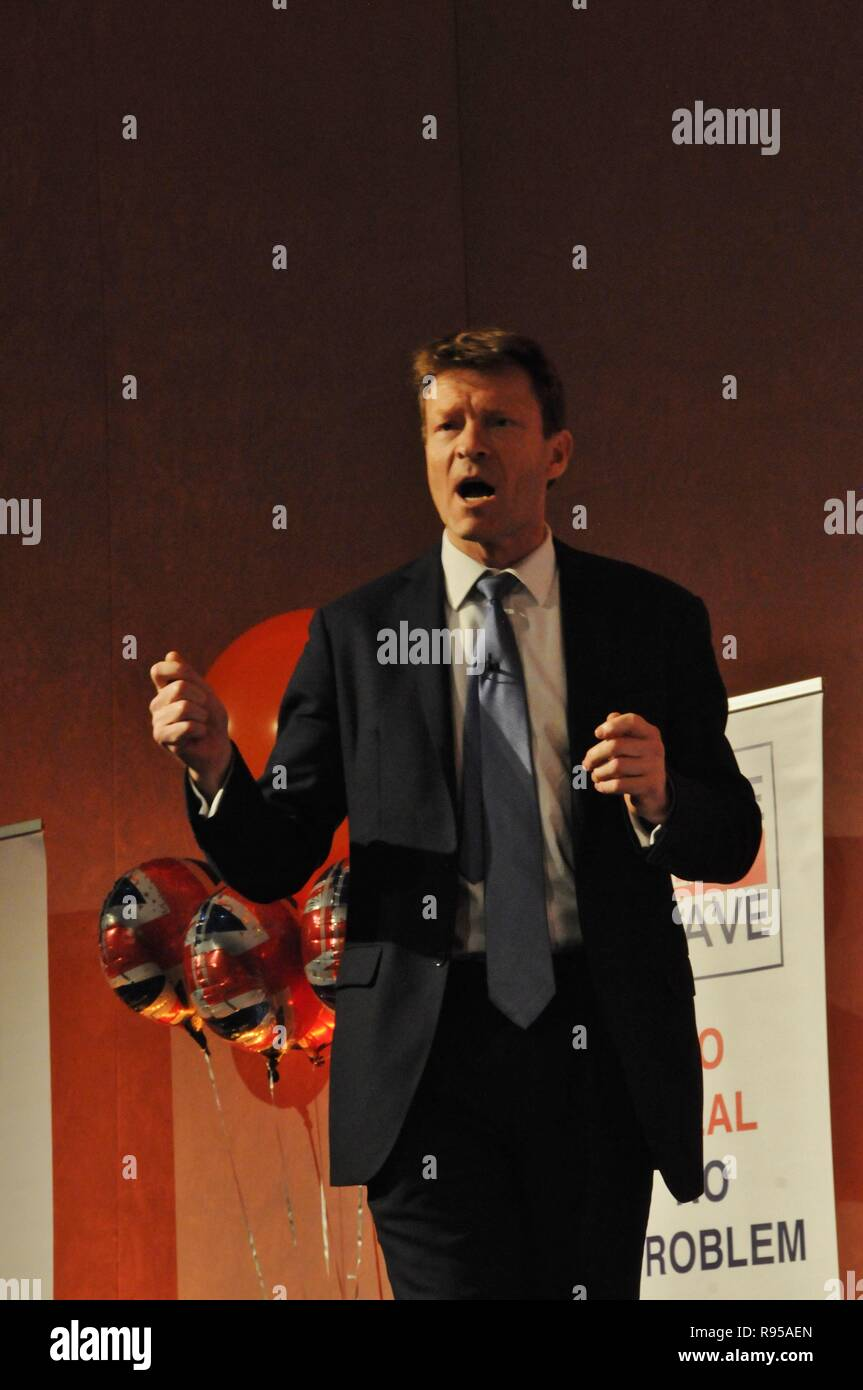 Richard Tice, the founder of Leave Means Leave, at a campaign event in London. Stock Photo