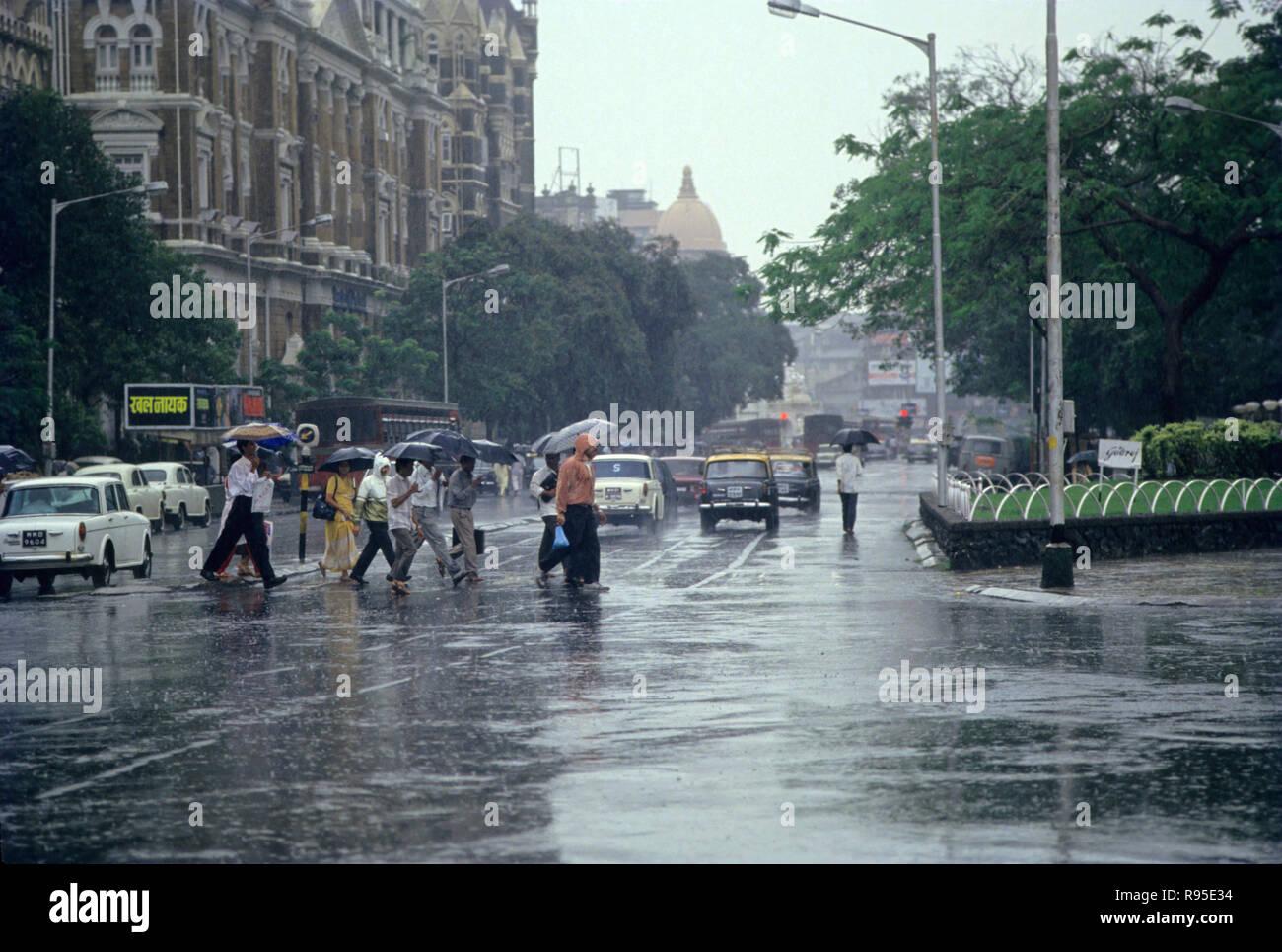 Heavy Rains, Monsoon, bombay mumbai, maharashtra, india - Stock Image