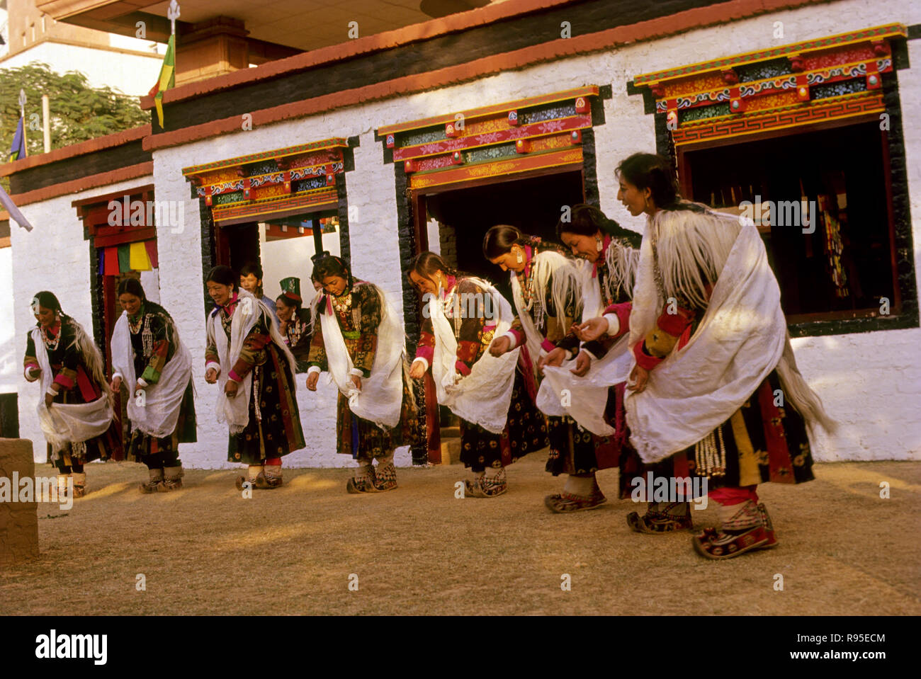 Folk Dance, Ladakh, India - Stock Image