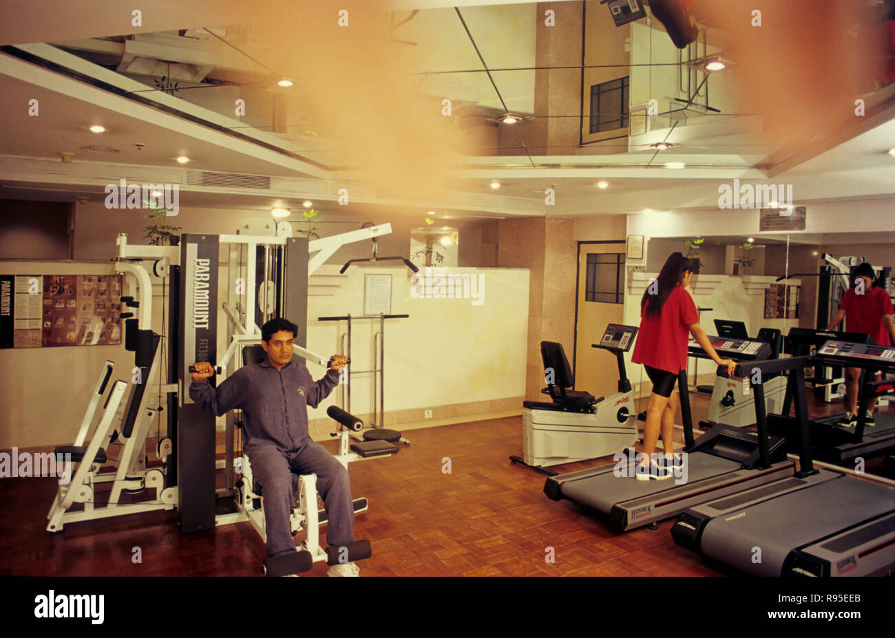 Health Club, Rajputana Palace, Jaipur, Rajasthan, india MR.NO.414.415 - Stock Image