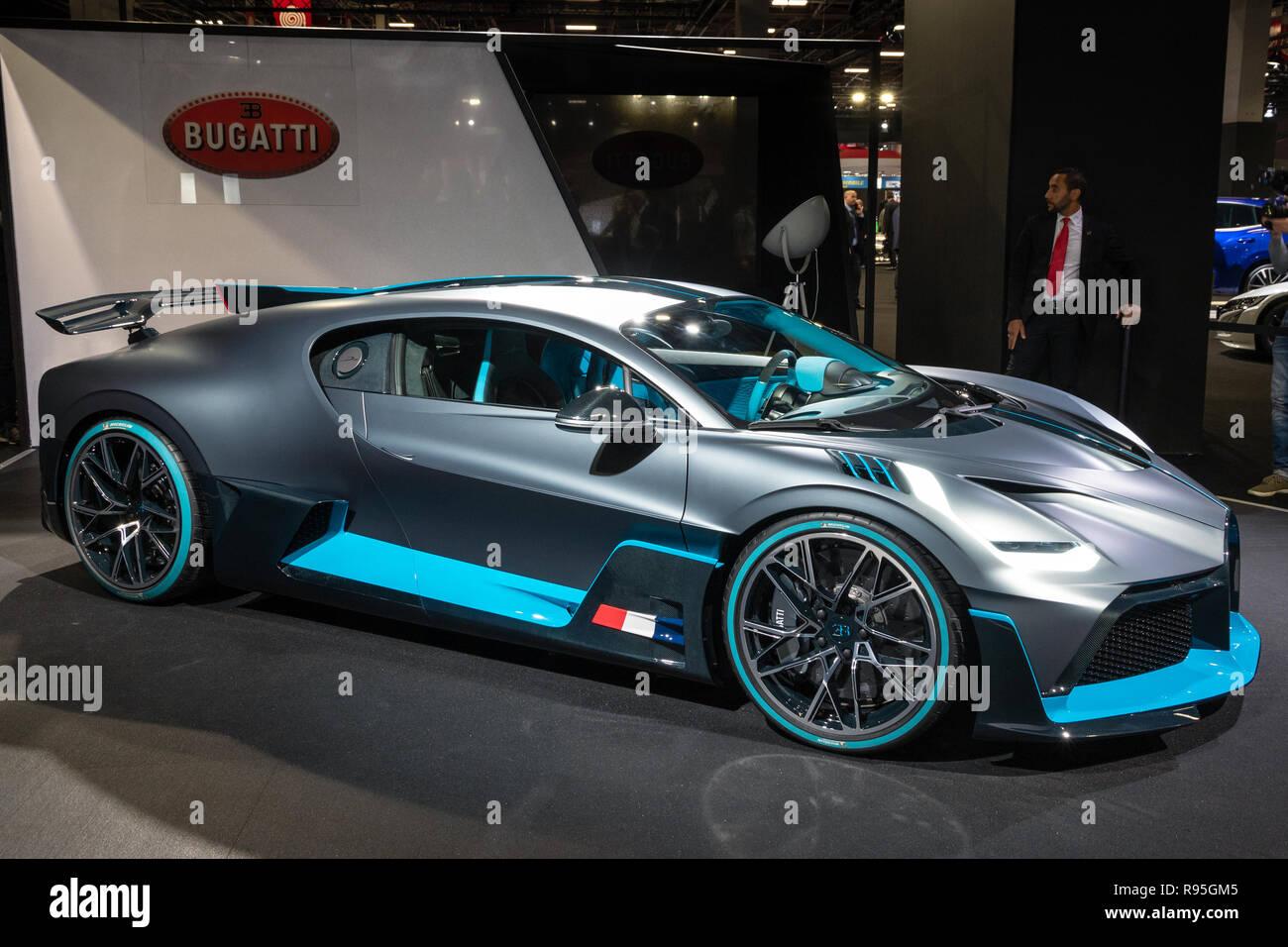 Paris Oct 3 2018 New 2020 Bugatti Divo Extreme Hypercar Showcased At The Paris Motor Show Stock Photo Alamy