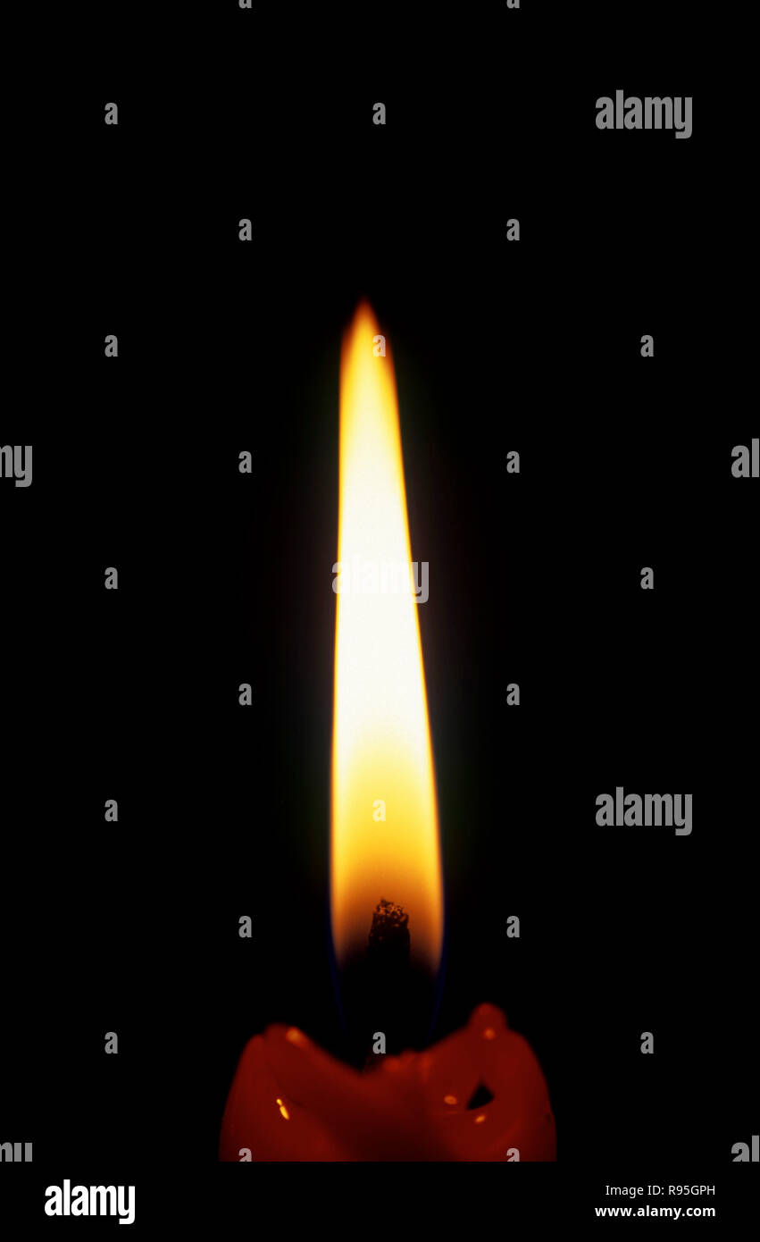Candle flame - Stock Image