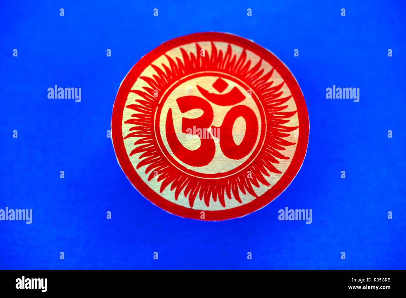 Om - Symbol of Hinduism - Stock Image