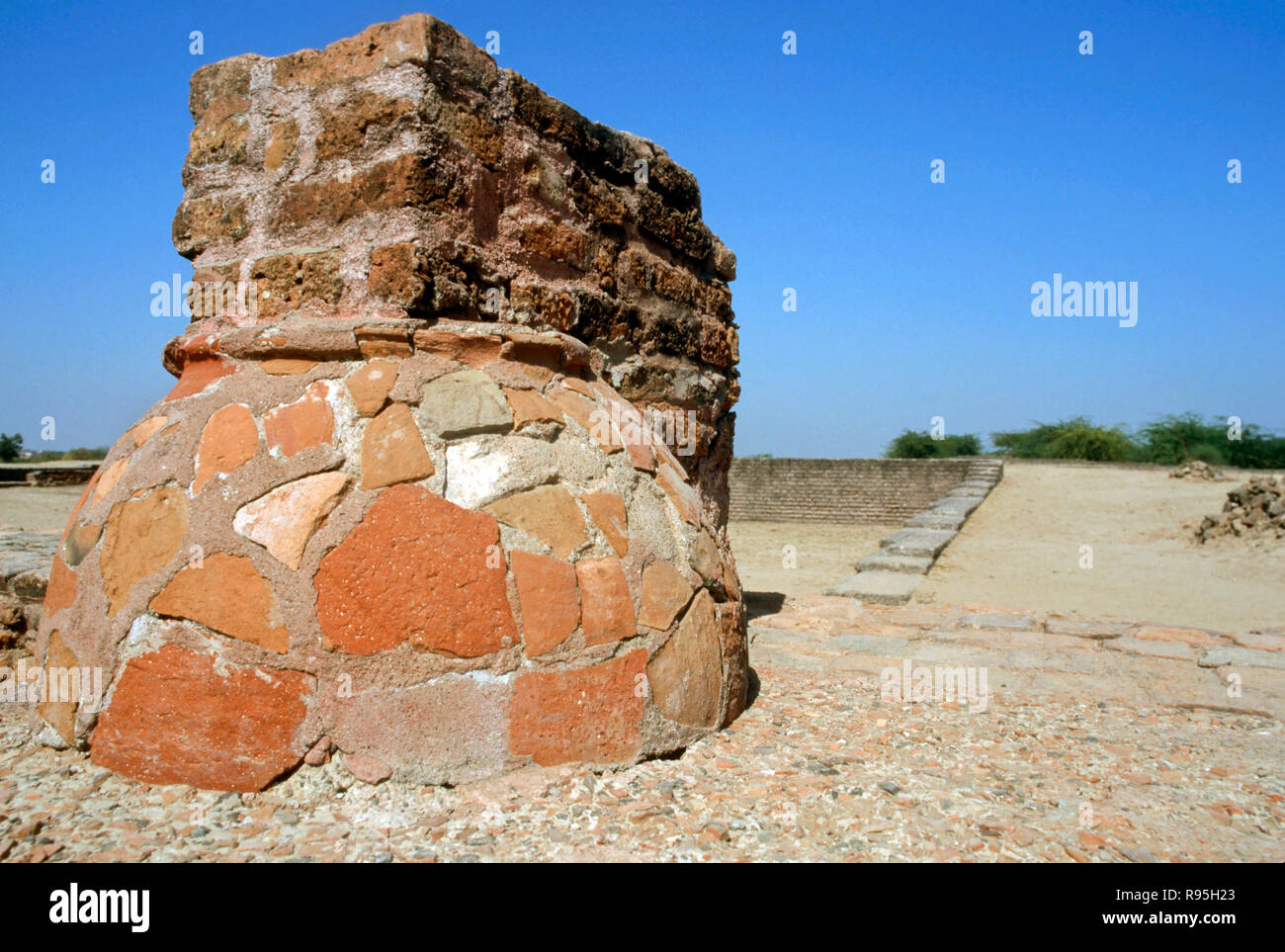 Indus (Harappa) Civilization Period - 2300 to 1700 B.C., Lothal, Gujarat, India - Stock Image