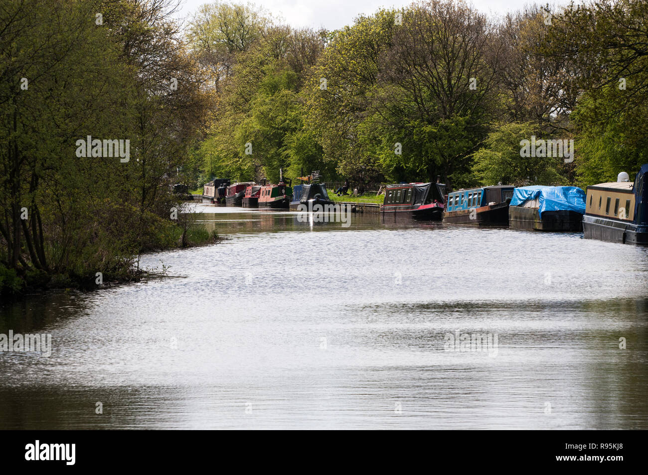 Views of Leeds Liverpool Canal - Stock Image