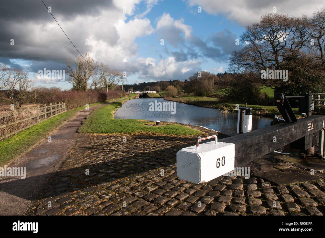 Lock 60, Johnson's Hillock, near Chorley, Lancashire, UK - Stock Image