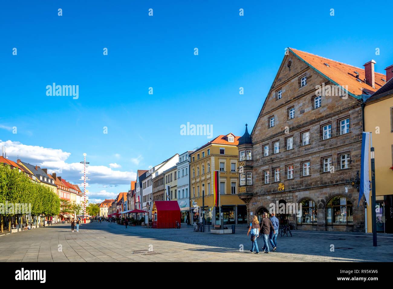 market, Bayreuth, Germany - Stock Image