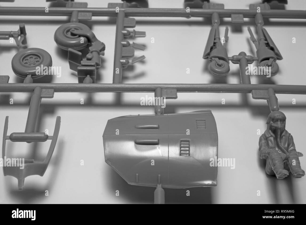 Tamiya 1/48 scale model Sea Harrier parts - Stock Image