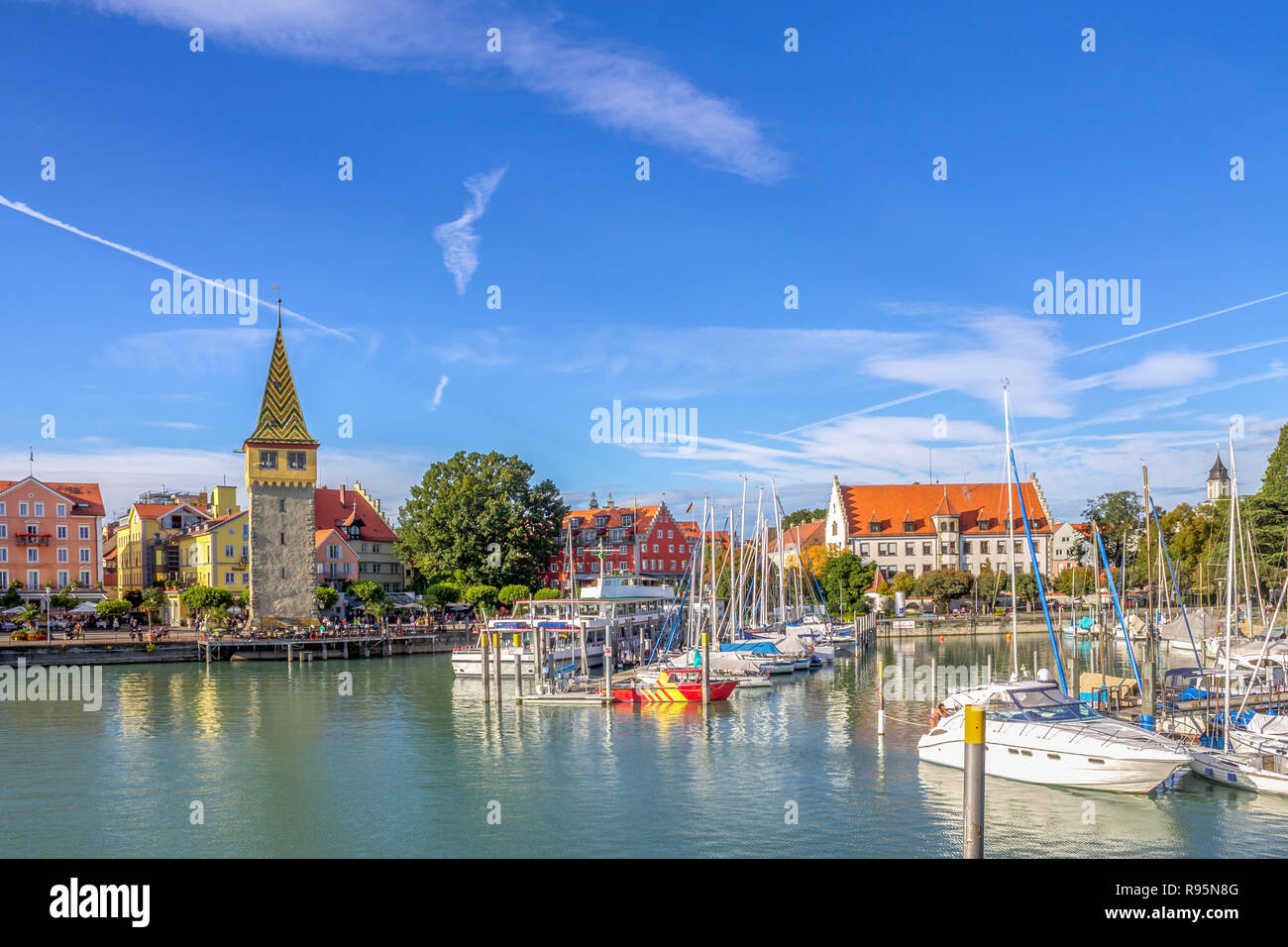 Lindau am Bodensee, Lake Constance, Germany Stock Photo