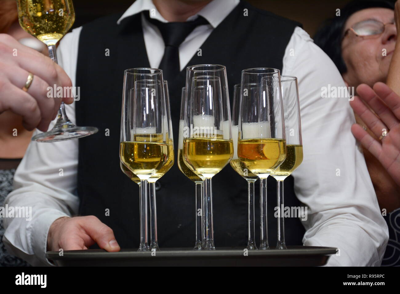 Case with wine - Stock Image