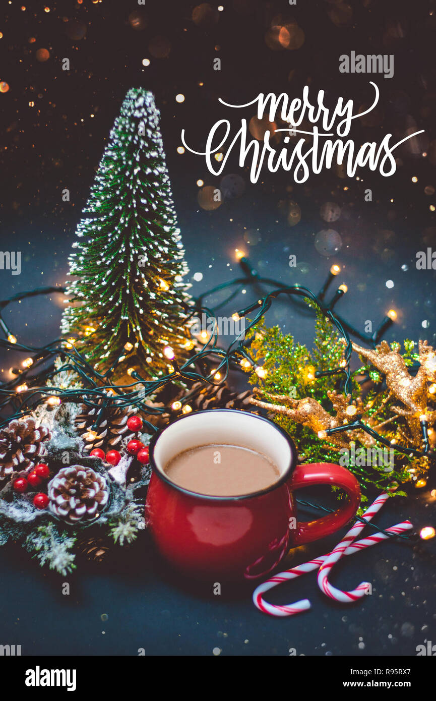 Good Morning Card Red Mug Stock Photos Good Morning Card Red Mug