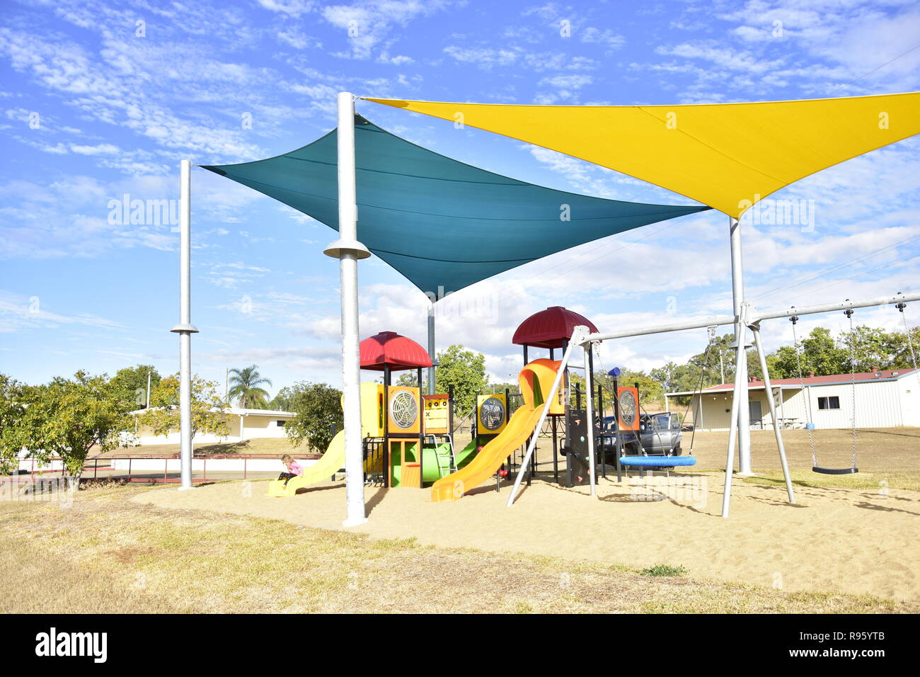 A LONELY PLAY GROUND - Stock Image