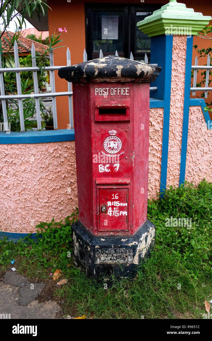 Letter box Batticaloa Sri Lanka - Stock Image