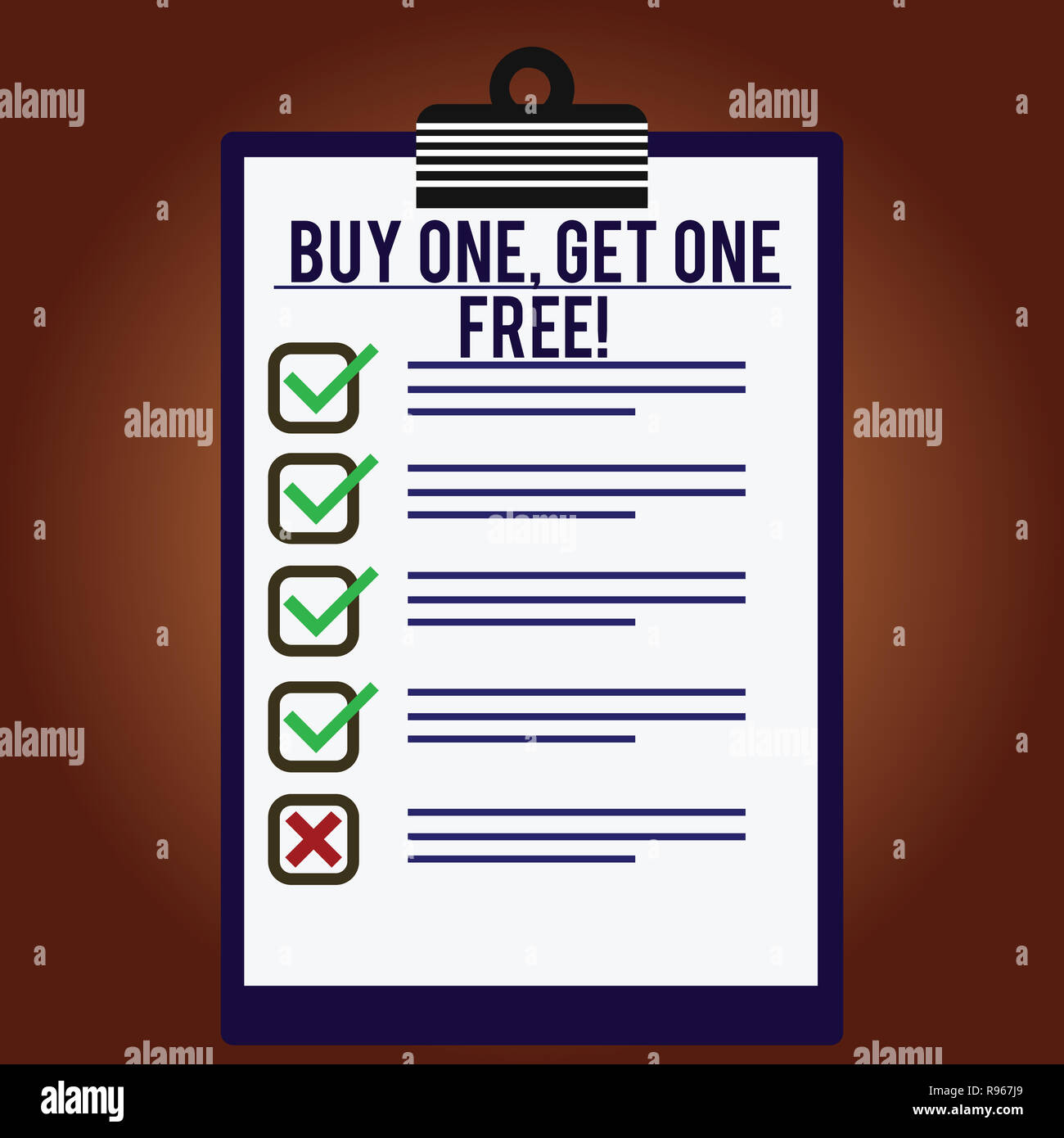 Word writing text Buy One Get One Free  Business concept for