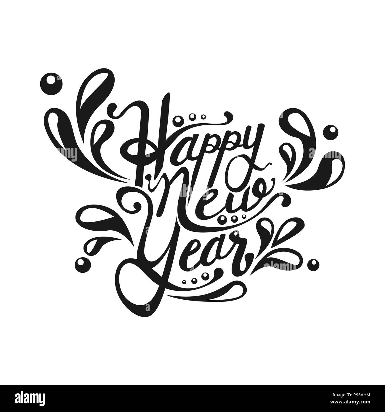 Happy New Year Lettering Design 24