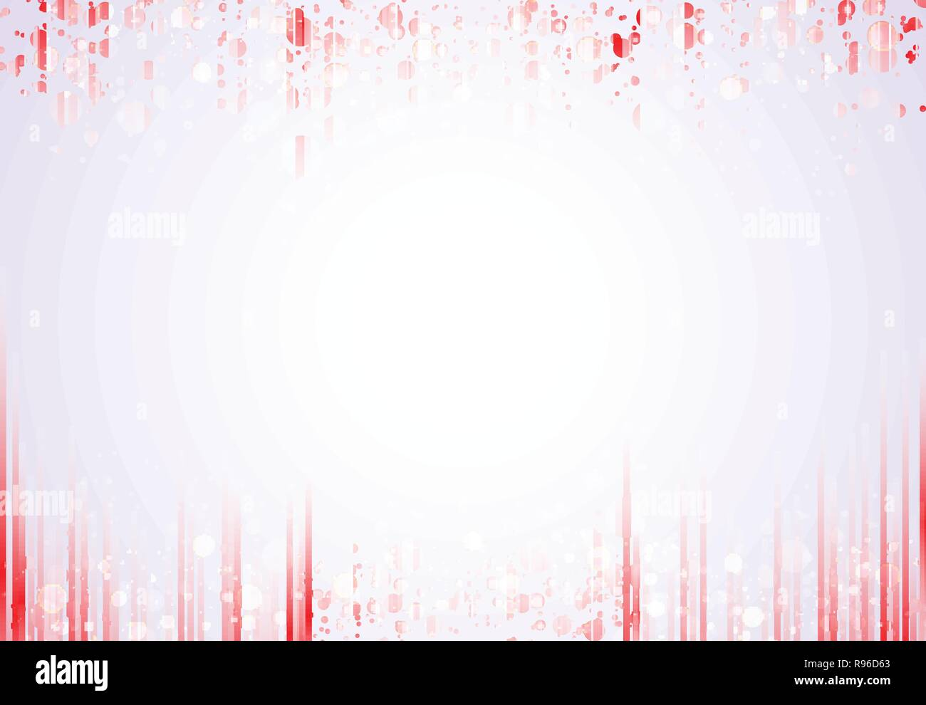 Template header and footers red vertical lines pattern with sparkle