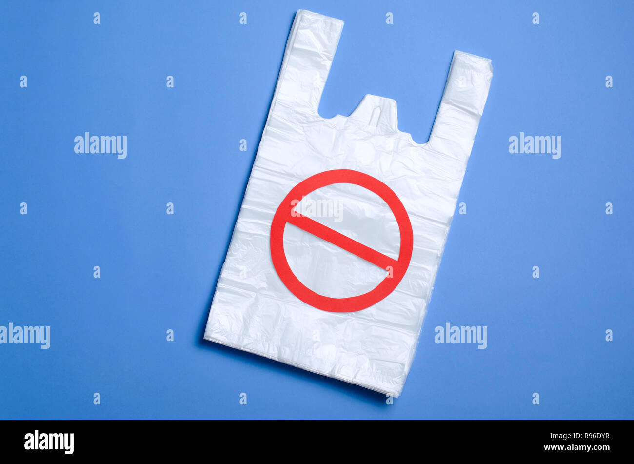 Say No to Plastic Bags, Recycle and Pollution Problem Concept - Stock Image