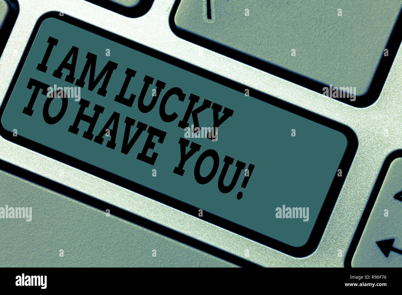 Text Sign Showing I Am Lucky To Have You Conceptual Photo