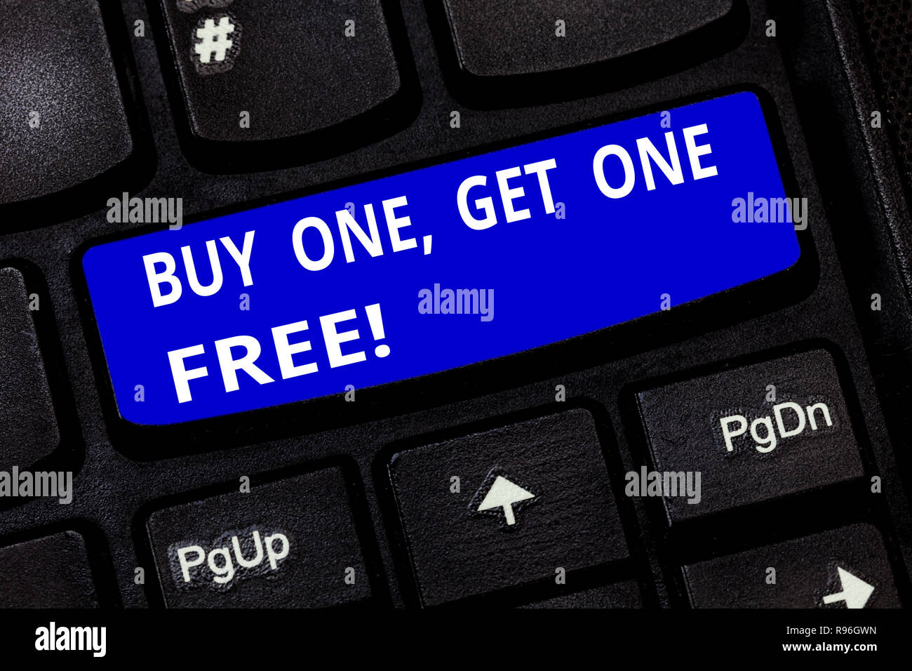 Text sign showing Buy One Get One Free  Conceptual photo Promotion