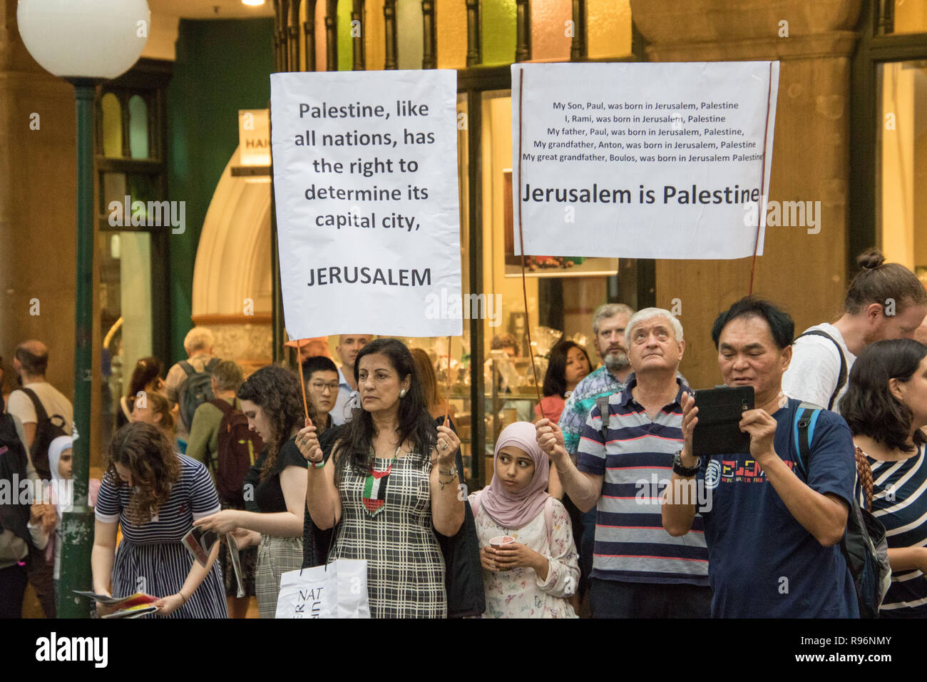 Sydney, Australia  20th December 2018  Palestine Action