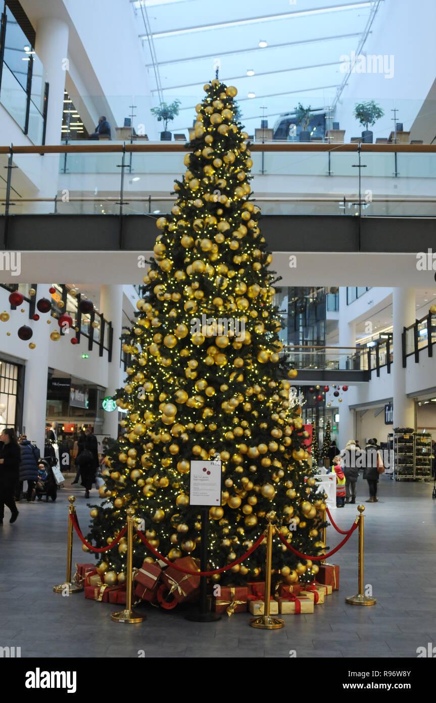 Christmas Tree Decorations 2018.Copenhagen Denmark 20th December 2018 Christmas Tree