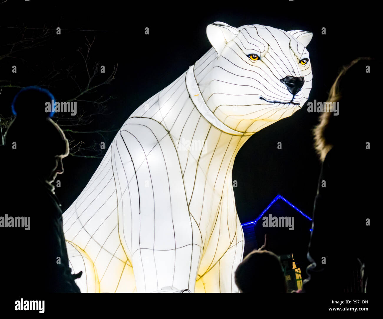 Christmas Polar Bear Display Stock Photos & Christmas
