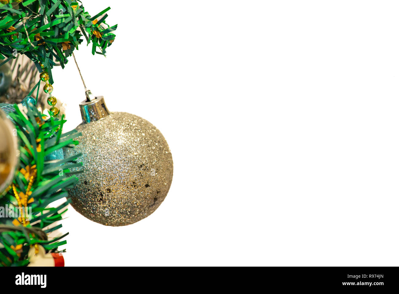 Christmas Holiday Background.Beautiful Christmas Decorations On Pine Tree Christmas