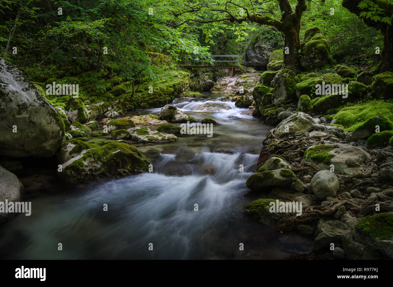 Chrousia river between Sirrako and Kalarrites villages - Stock Image