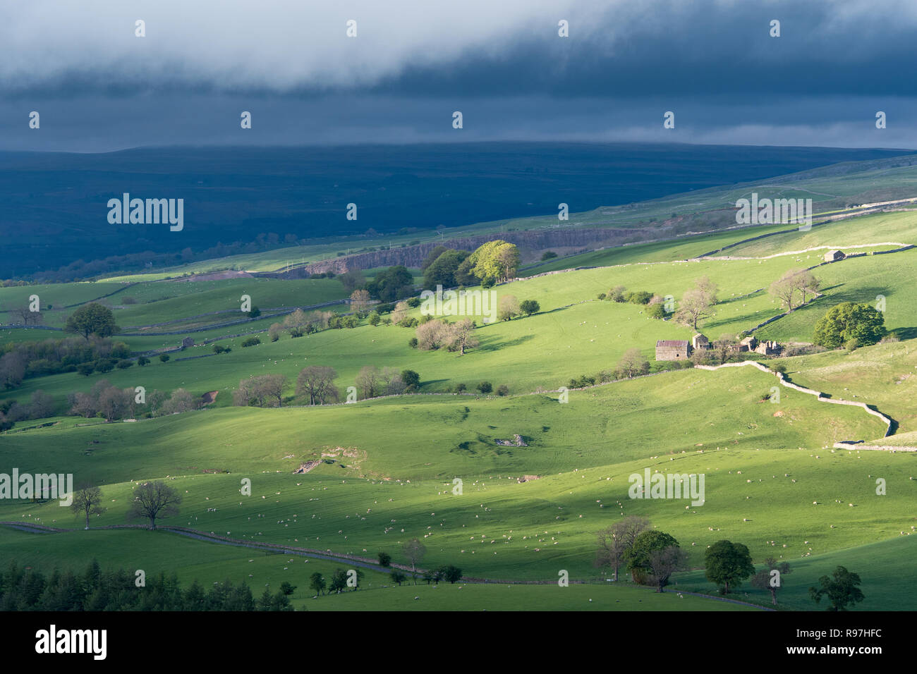 Countryside near Kirkby Stephen in the Upper Eden Valley, Cumbria, UK. Stock Photo