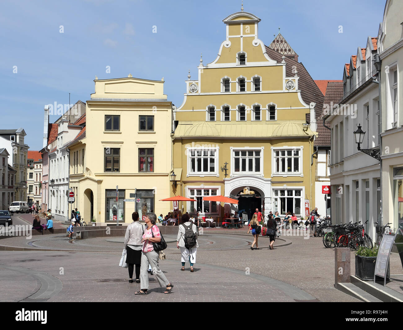 The old Lion-pharmacy in Wismar - Stock Image