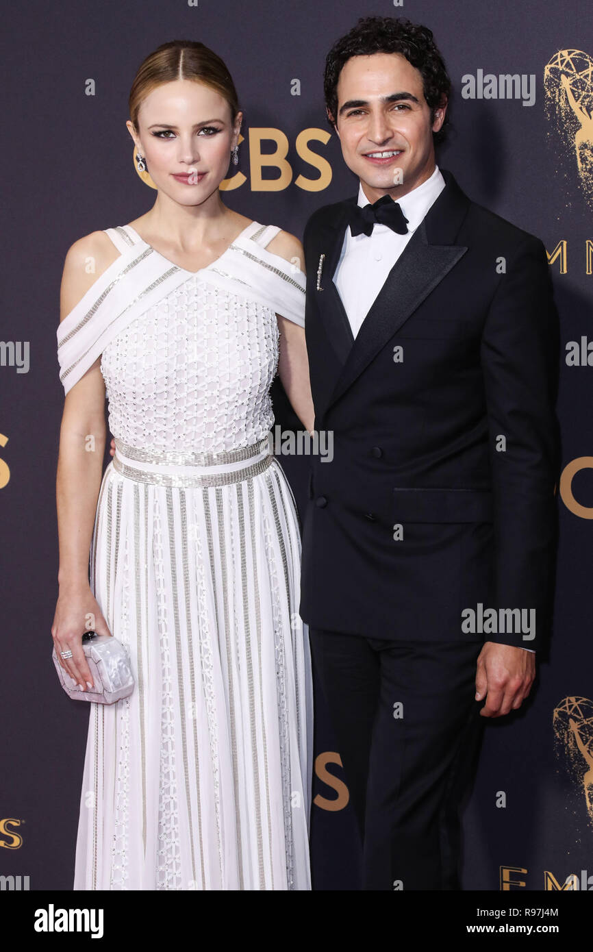 LOS ANGELES, CA, USA - SEPTEMBER 17: Halston Sage, Zac Posen arrive at the 69th Annual Primetime Emmy Awards held at Microsoft Theater at L.A. Live on September 17, 2017 in Los Angeles, California, United States. (Photo by Xavier Collin/Image Press Agency) Stock Photo