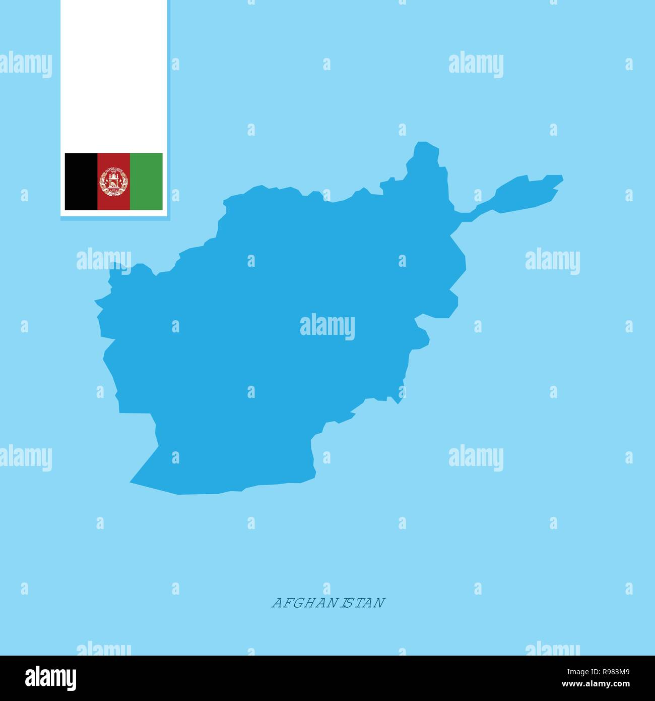 Afghanistan Country Map Stock Photos & Afghanistan Country Map Stock ...