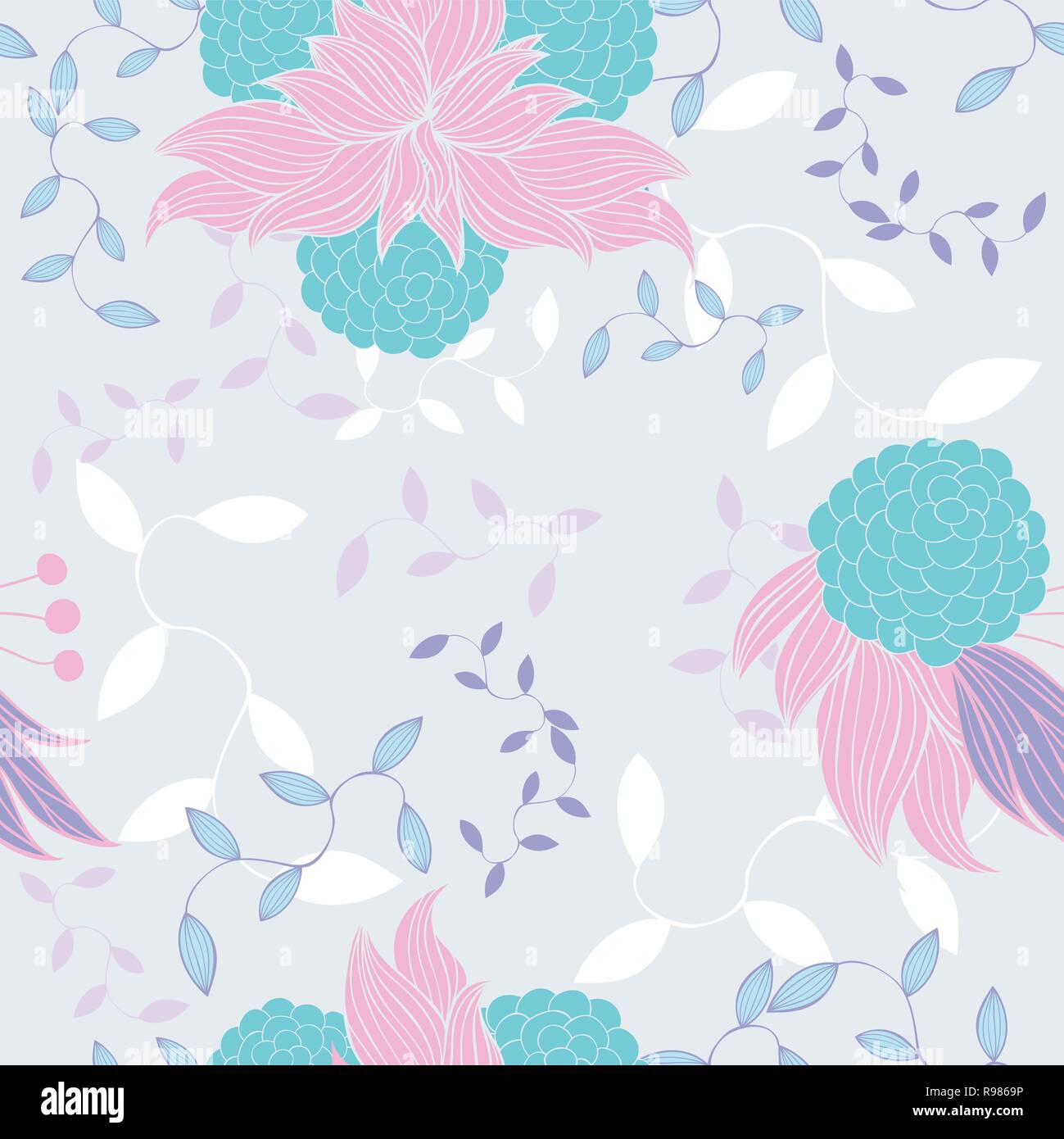 Colorful Floral Pattern Wallpaper Seamless Background Pattern