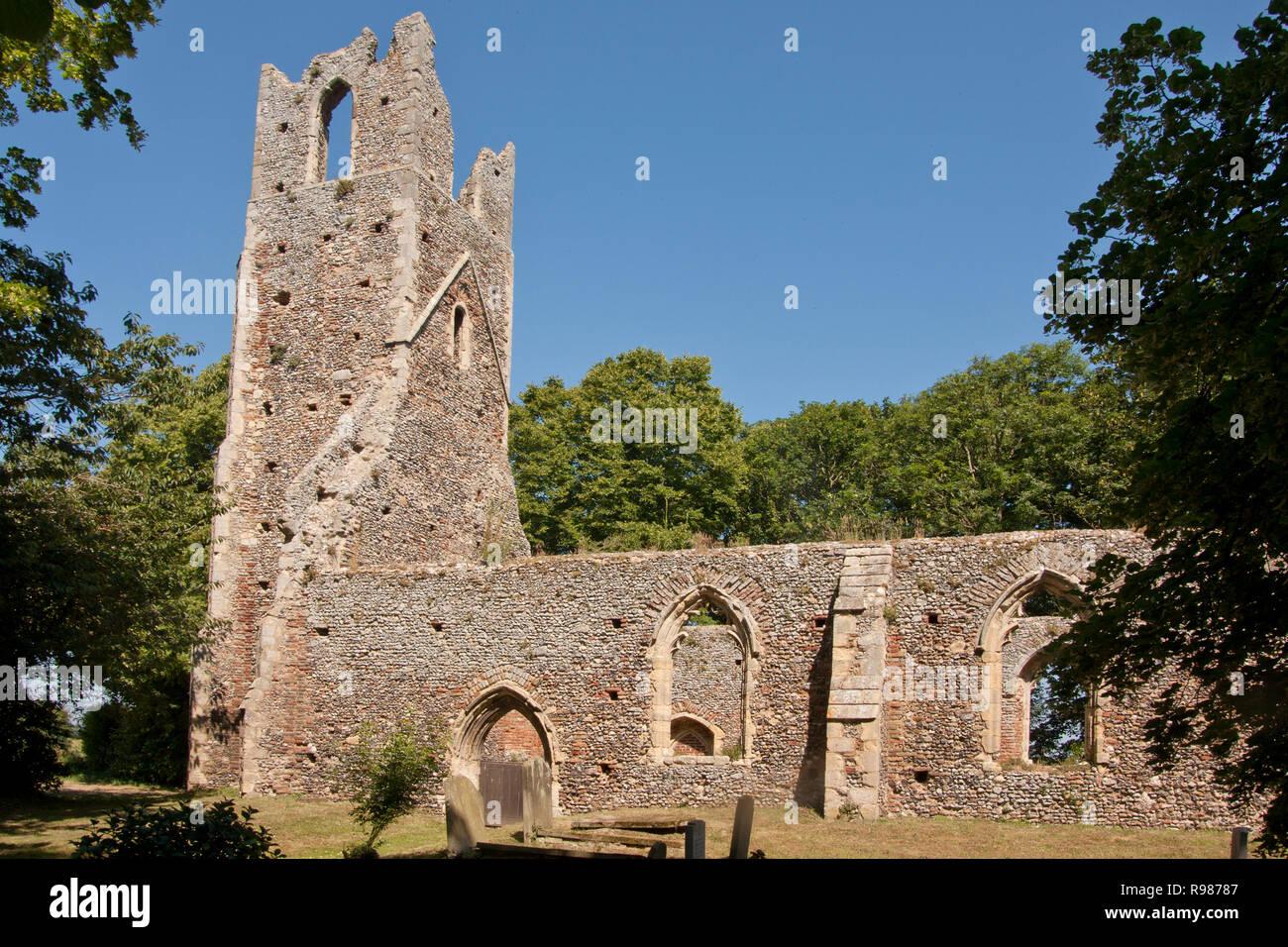 St Peter & Paul Church ruin, Tunstall, Great Yarmouth, Norfolk Stock Photo