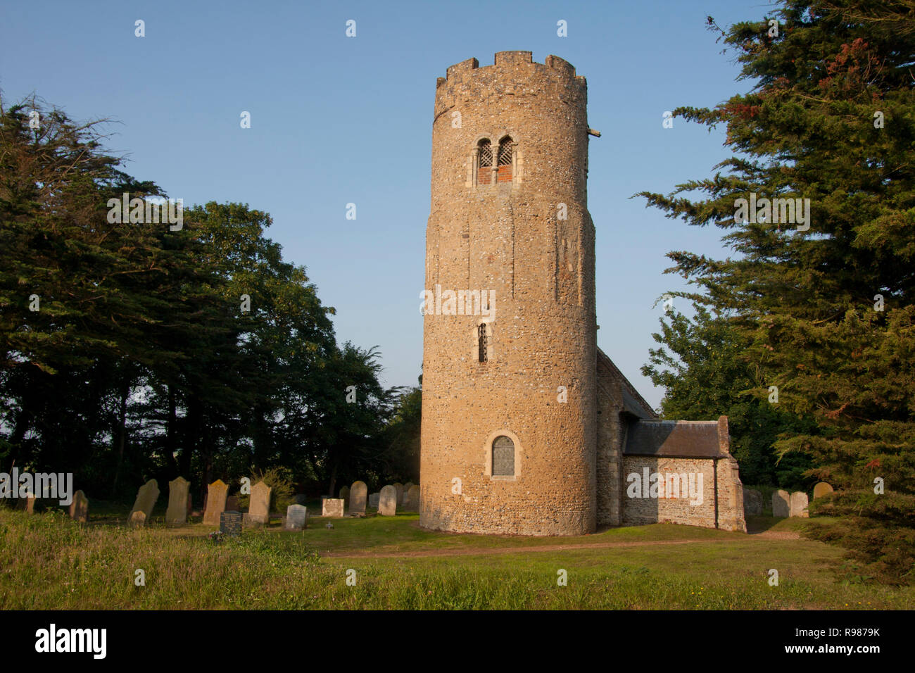 St Matthews Church, Thorpe, nr Haddiscoe, Suffolk, East Anglia - Stock Image