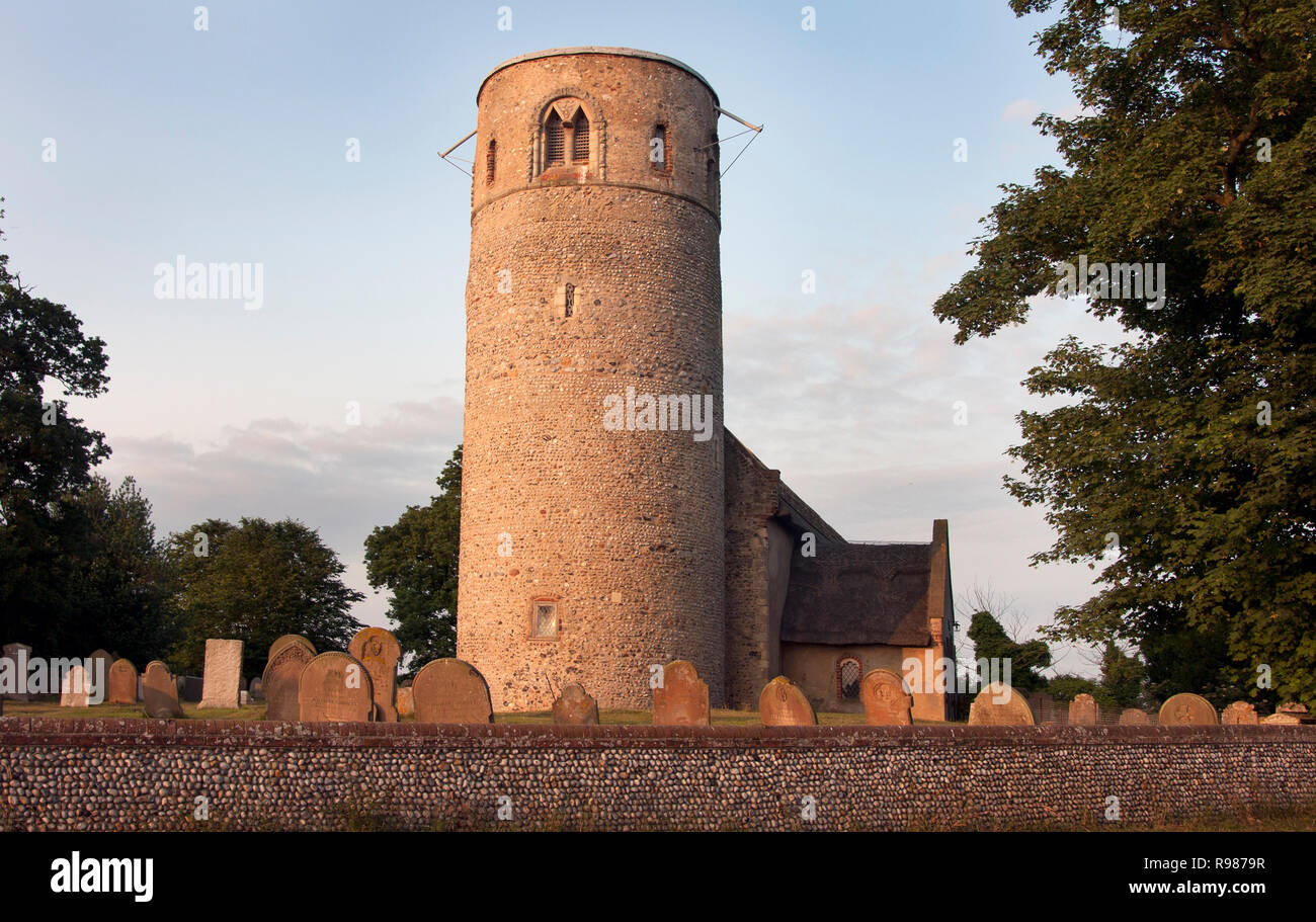 parish church of St Margaret, Herringfleet, Haddiscoe, Suffolk, East Anglia - Stock Image