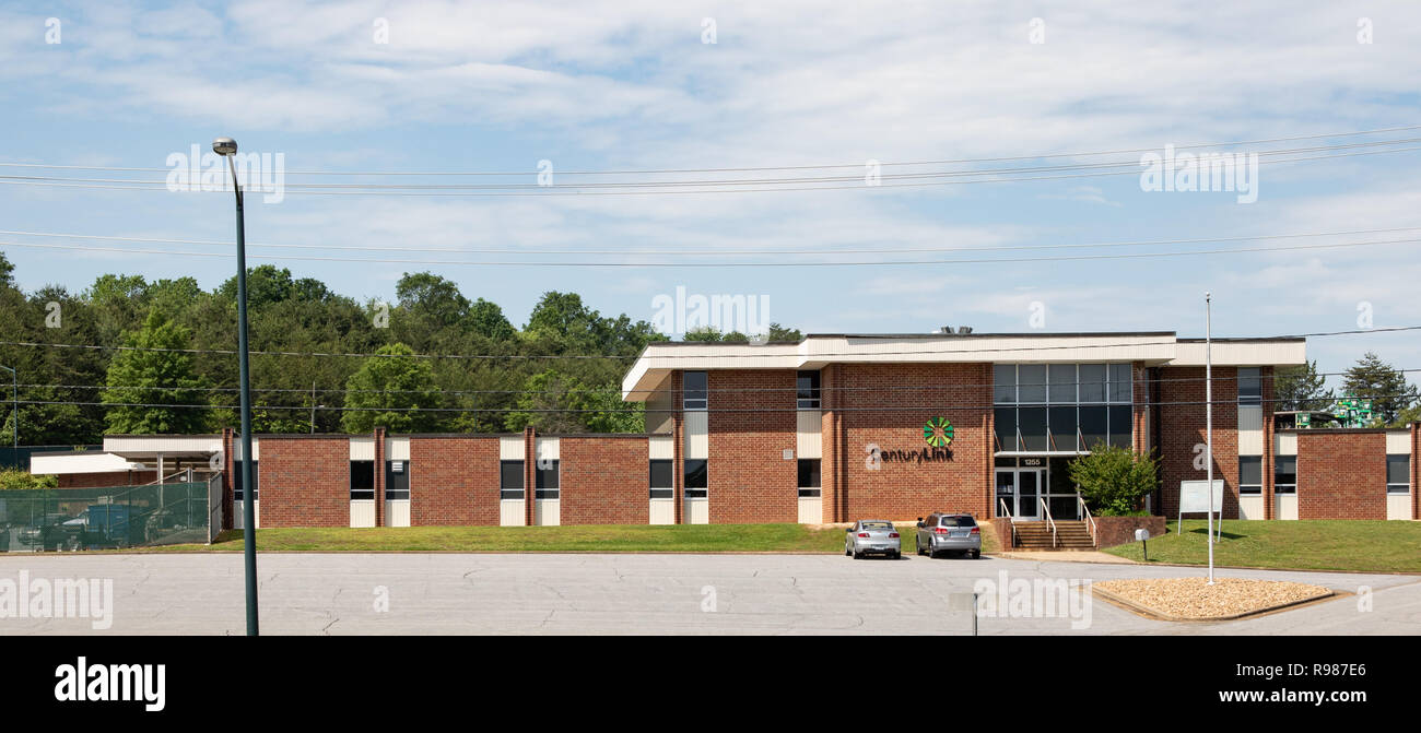 HICKORY, NC, USA-05-11-18: A Century Link office building and warehouse.  Century Link is a Louisiana-based communications and data service. - Stock Image