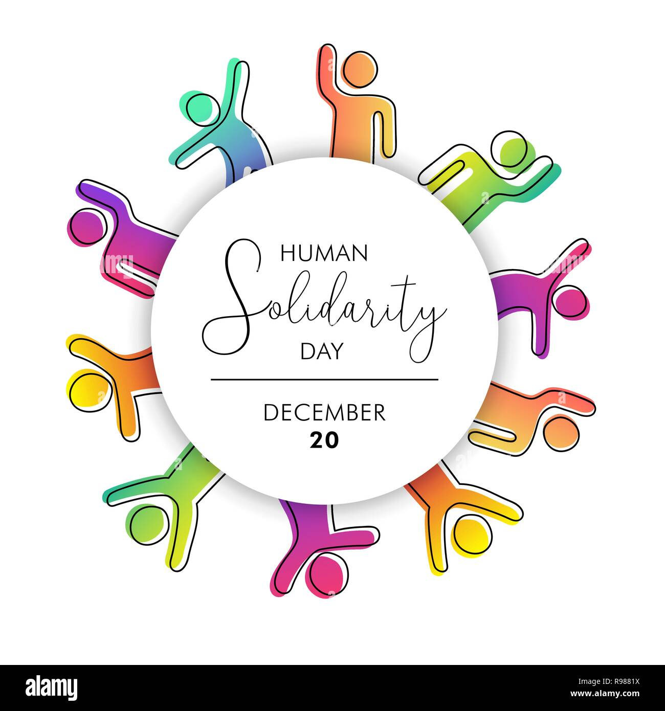 5a3f806533b2 International Human Solidarity Day illustration with diversity colorful  peoples helping each other for community help