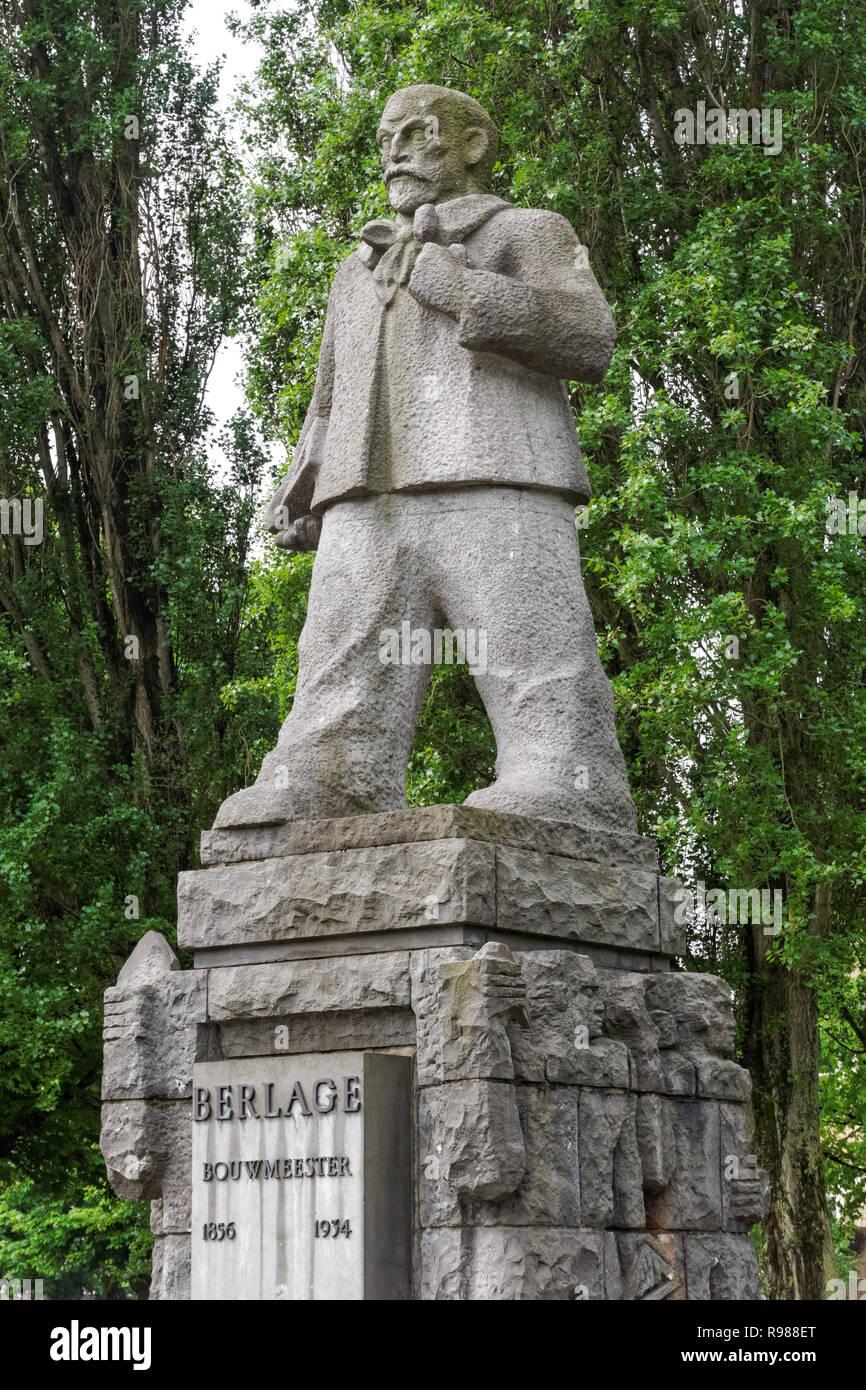 Statue Of Dutch Architect Hendrik Petrus Berlage In