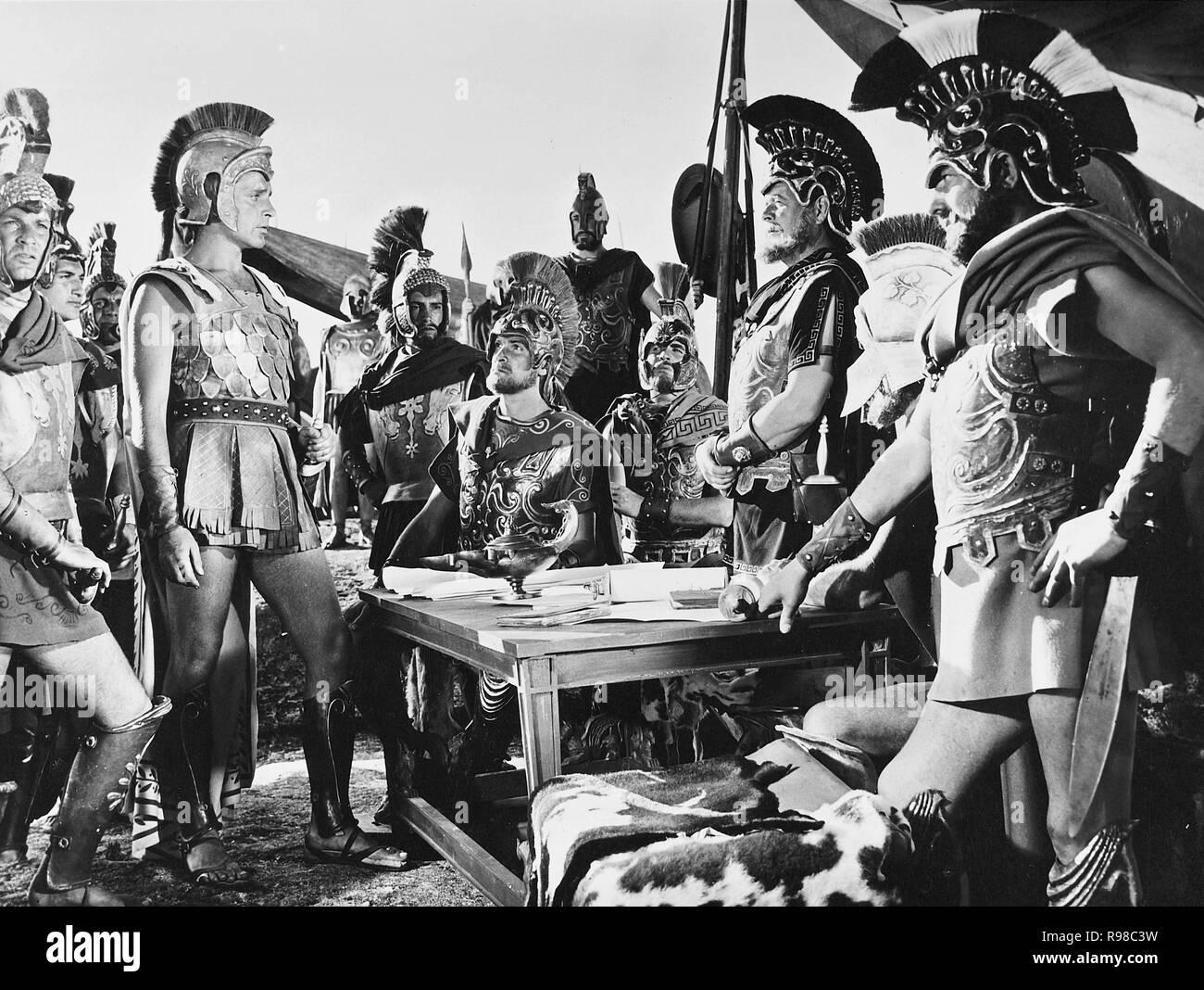 Original film title: ALEXANDER THE GREAT. English title: ALEXANDER THE GREAT. Year: 1956. Director: ROBERT ROSSEN. Stars: ALEXANDER DER GROSSE; RICHARD BURTON. Credit: UNITED ARTISTS / Album - Stock Image