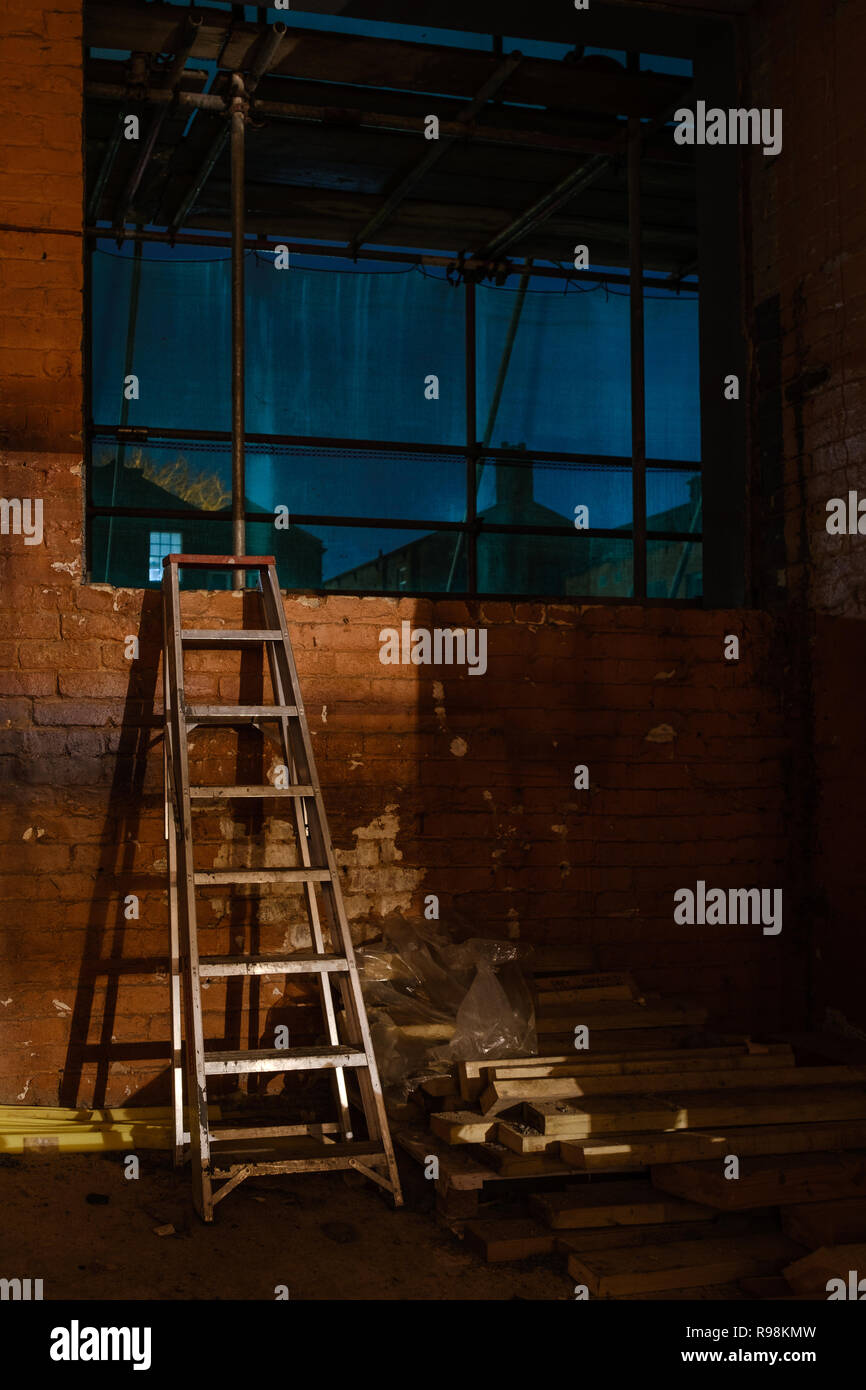 Building work in progress to create City Centre aprtments at Union Lofts in Preston - Stock Image