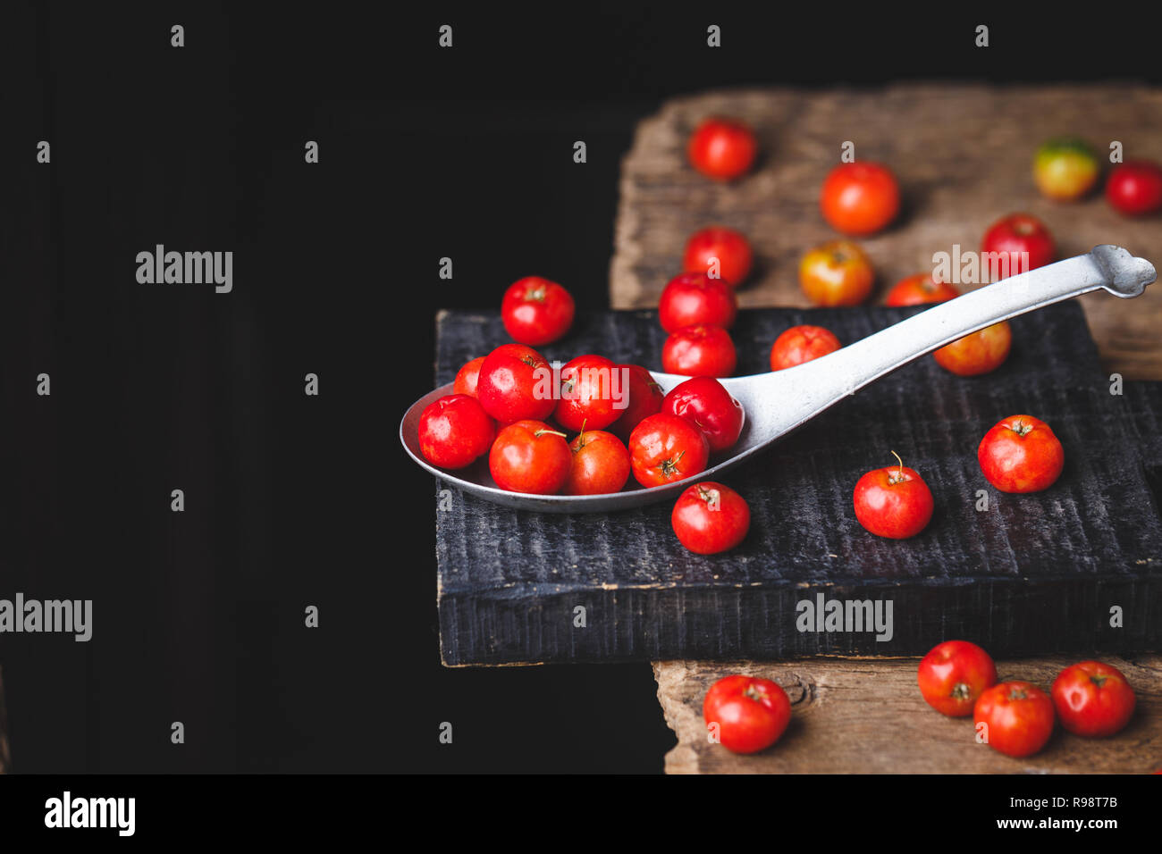 Barbados Cherry fruits - Stock Image