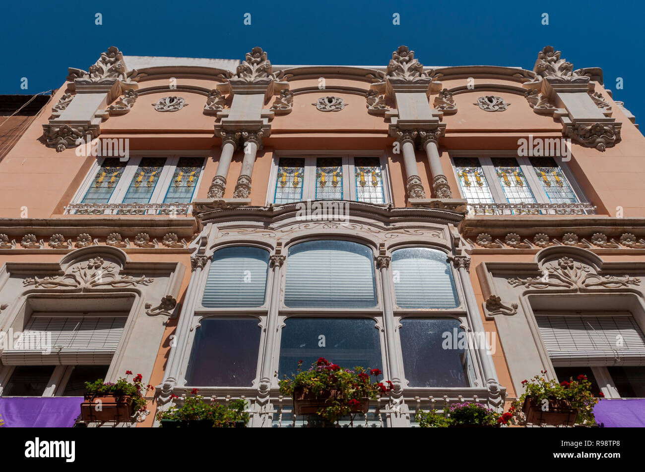 CARTAGENA, SPAIN – APRIL 12, 2017: Facade of the Clares House. It was designed by the architect Mario Spottorno in 1907 Stock Photo