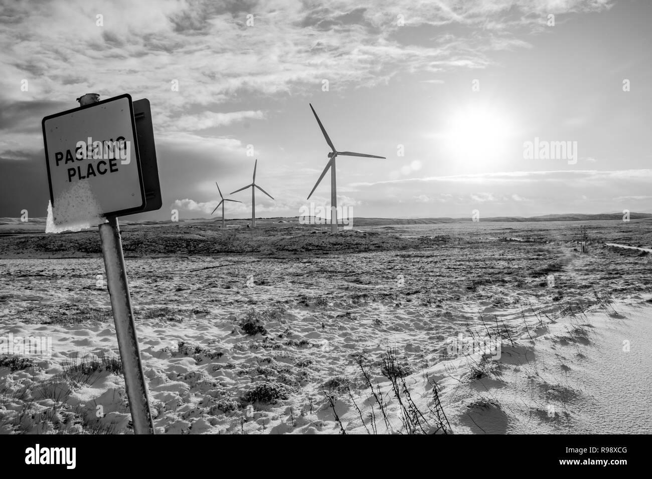 Landscape on Isle of Lewis, Scotland, UK - Stock Image