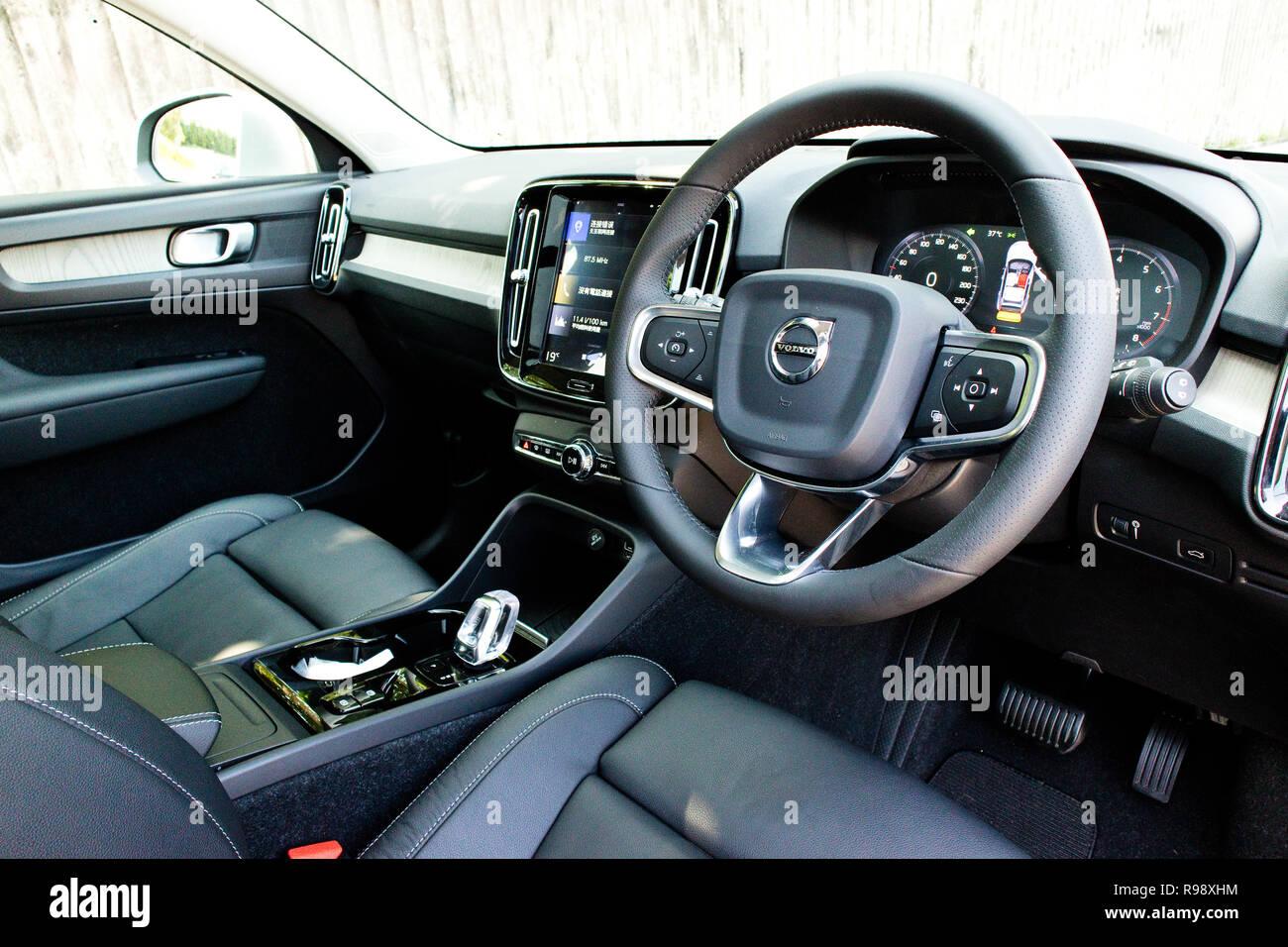 Hong Kong China Sept 4 2018 Volvo Xc40 T4 2018 Interior Sept 4