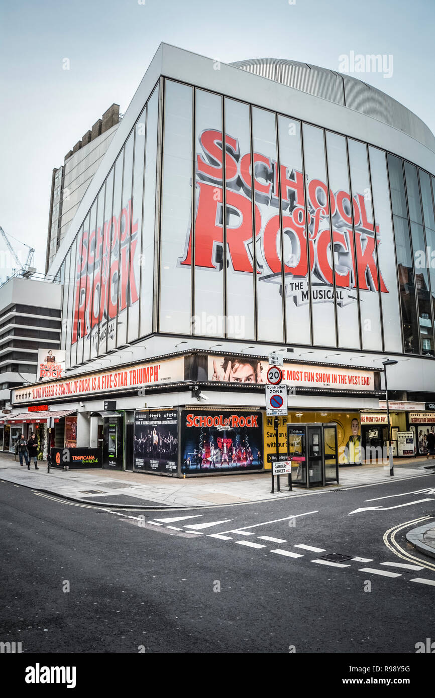 School of Rock, the Musical at the Gillian Lynne Theatre, Drury Lane, London, UK - Stock Image