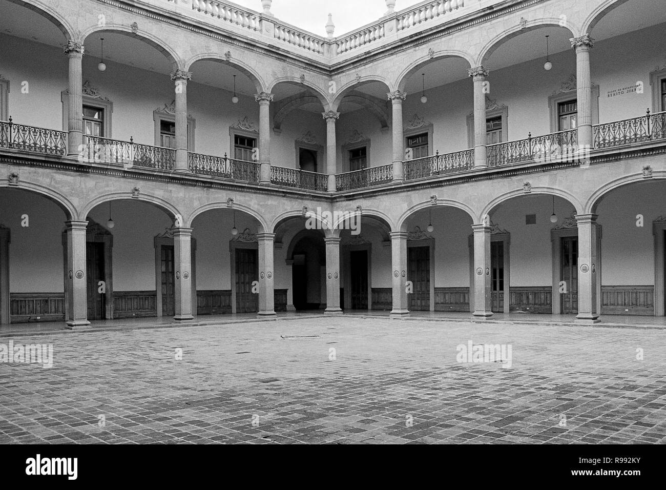 MONTERREY, NL/MEXICO - NOV 10, 2003: Interiors detail of the Governor's Palace. A museum since 2006. Stock Photo